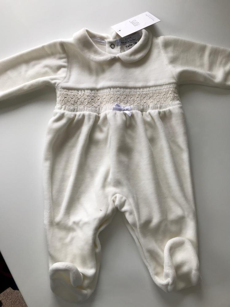 Unisex Popys Babygrow 23514 - Cream