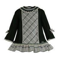 Girls Miranda Grey and Green Dress 276
