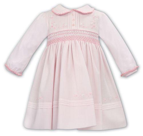 Girls Sarah Louise Dress 012068 - Pink and White