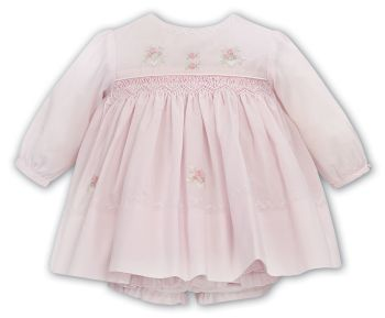 Girls Sarah Louise Dress and Pants 012027 Pink and White