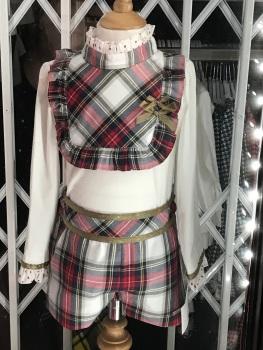 Girls Miranda Red Tartan Shorts Set 227