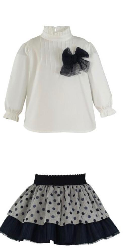 Girls Miranda Navy Skirt Set 245