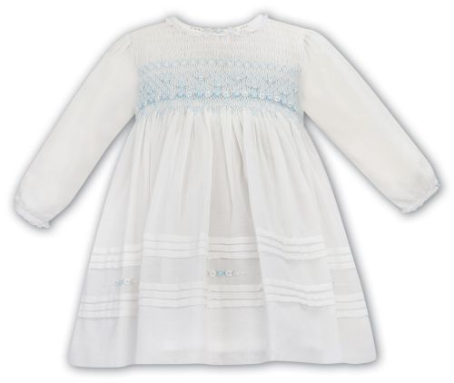 Girls Sarah Louise Dress 012053 Ivory and Mint