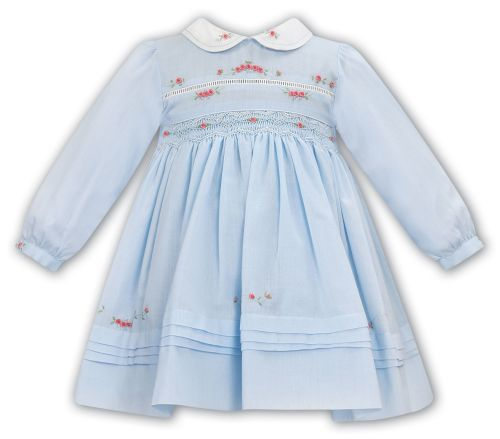 Girls Sarah Louise Dress 012056 Blue