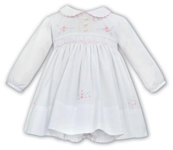 Girls Sarah Louise Dress and Pants 012029 White