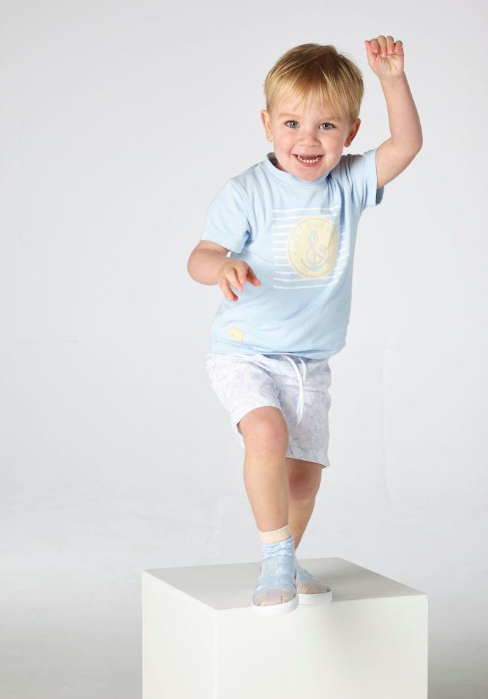 PRE ORDER SS21 Boys Mitch & Son Byres T Shirt and Bothwell Shorts