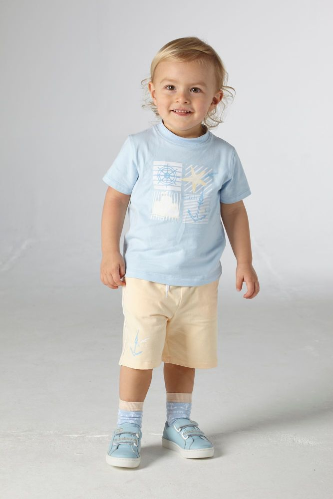 PRE ORDER SS21 Boys Mitch & Son Bentwick T Shirt and Shorts Set MS21118