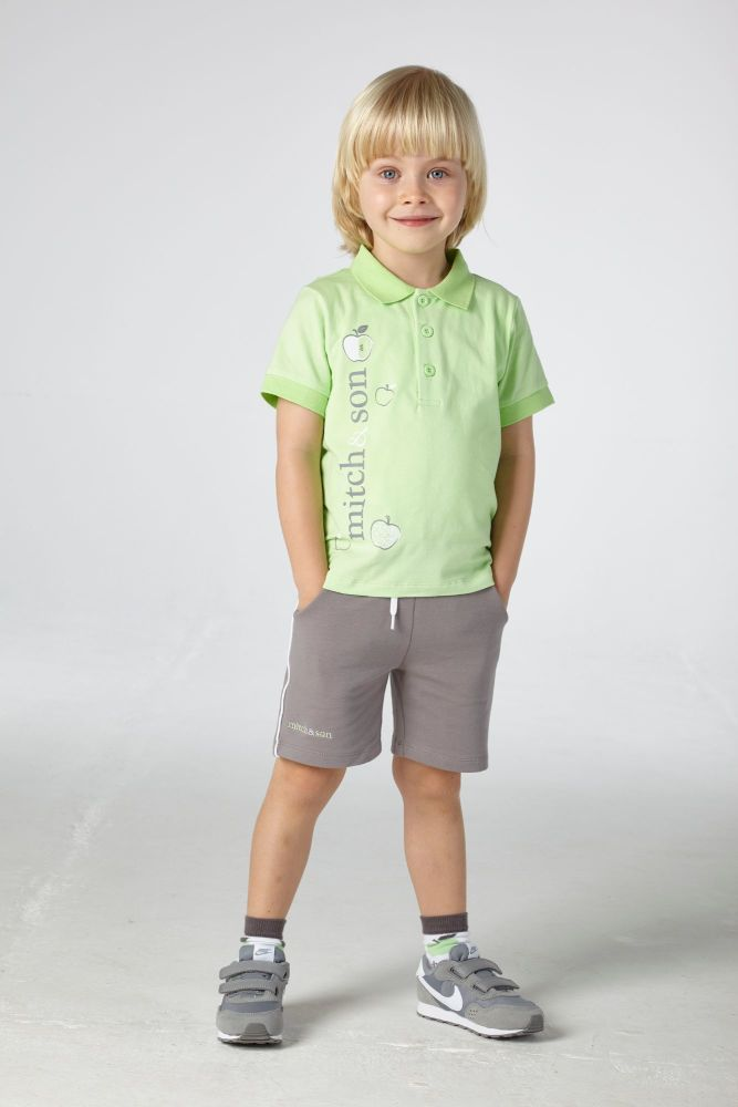 PRE ORDER SS21 Boys Mitch & Son George Polo Shirt and Shorts Set MS21316