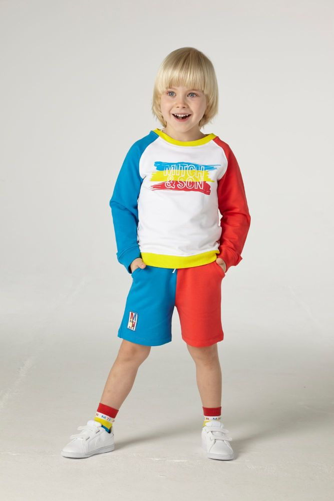 PRE ORDER SS21 Boys Mitch & Son Commerce Jumper and Shorts Set MS21213