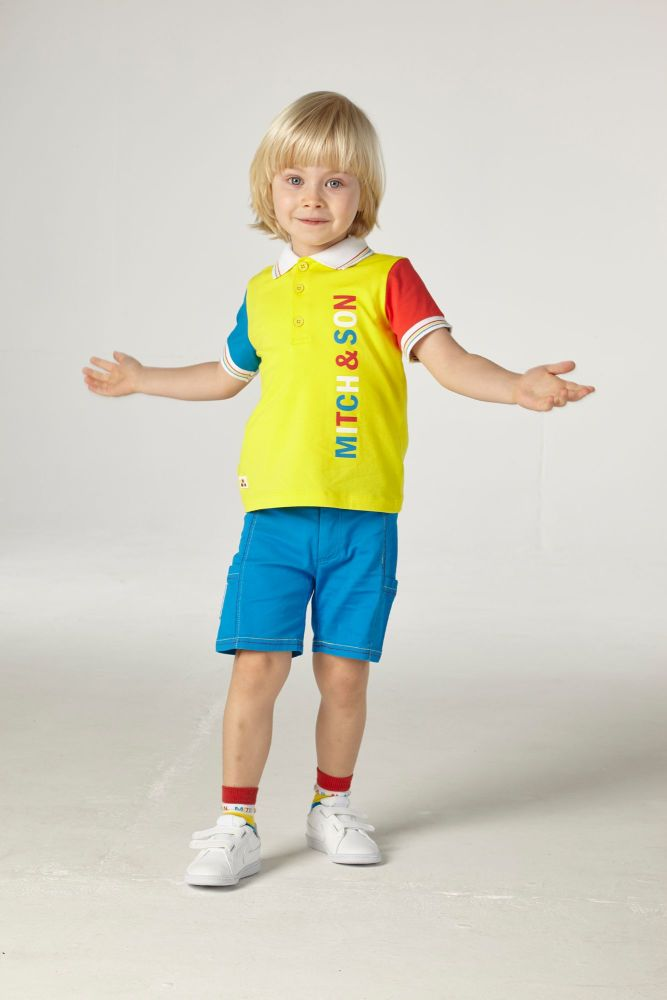 PRE ORDER SS21 Boys Mitch & Son Carnoustie Polo Shirt and Shorts Set MS2121