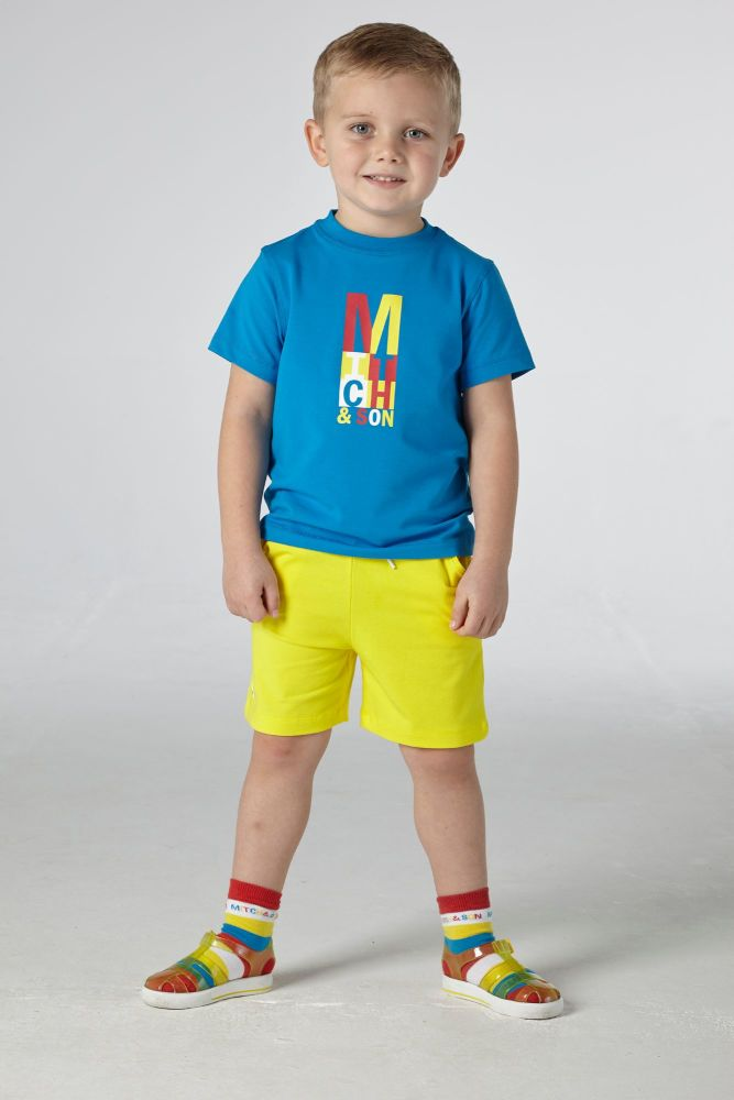 PRE ORDER SS21 Boys Mitch & Son Congress T Shirt and Shorts Set MS21214