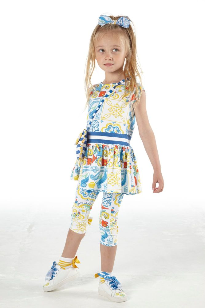 PRE ORDER SS21 Girls A*Dee Porto In The Sun Collection Lainey Leggings Set