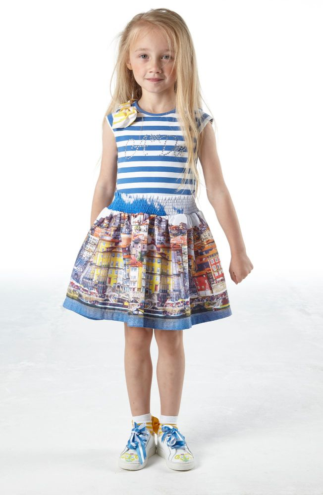 PRE ORDER SS21 Girls A*Dee Porto In The Sun Collection Leah Dress S211700