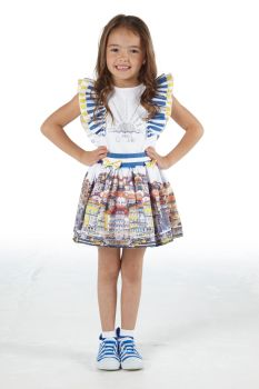 Girls A*Dee Porto In The Sun Collection Lia Top and Skirt Set S211504