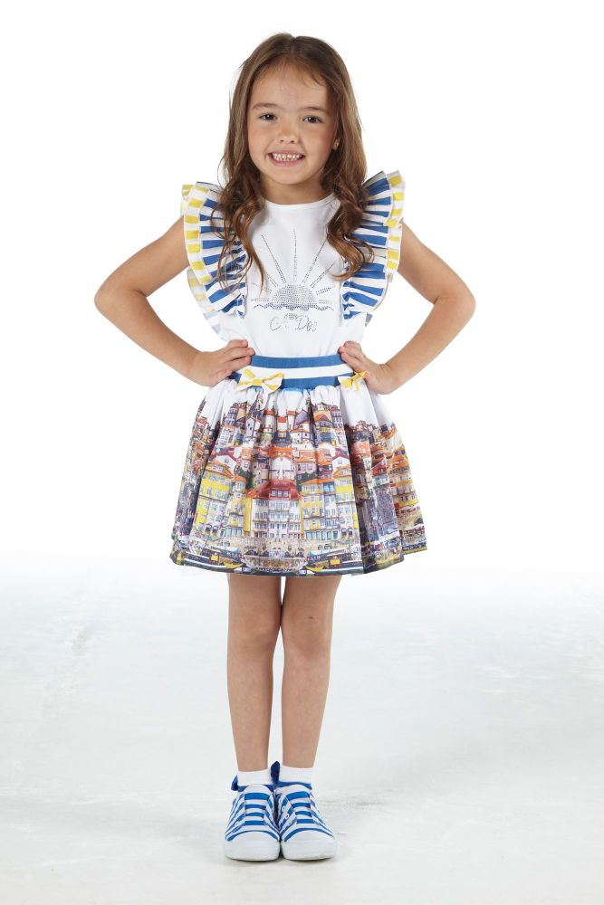 PRE ORDER SS21 Girls A*Dee Porto In The Sun Collection Lia Top and Skirt Se
