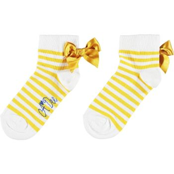 Girls A*Dee Porto In The Sun Collection Libby Socks S211903 Yellow