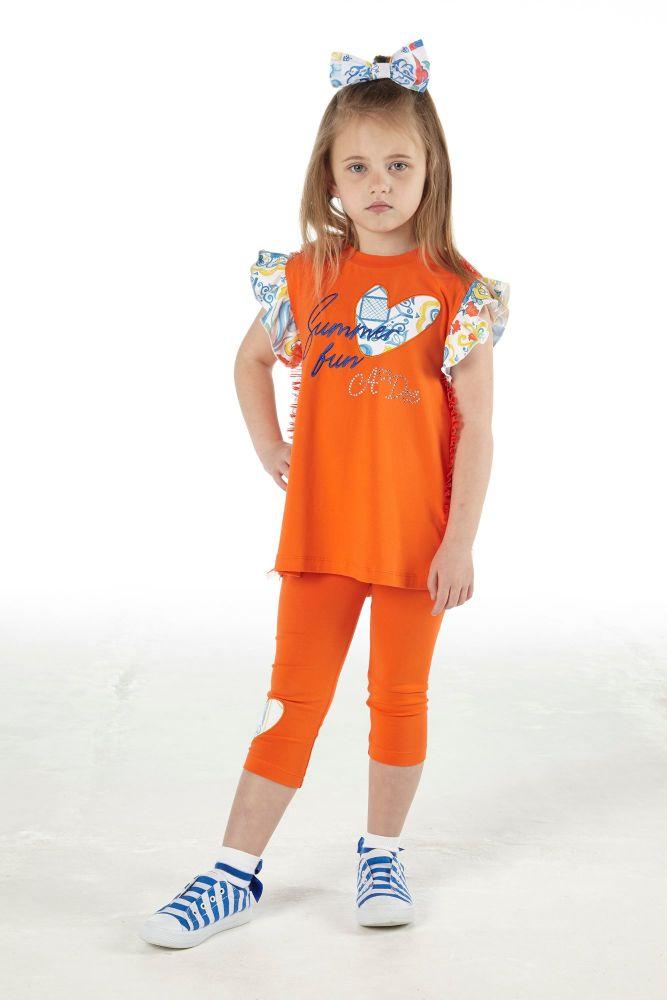PRE ORDER SS21 Girls A*Dee Porto In The Sun Collection Luna Leggings Set S2