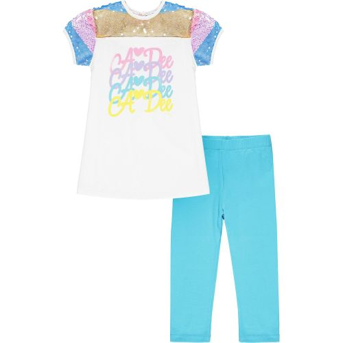 PRE ORDER SS21 Girls A*Dee Rainbows and Unicorns Collection Nan Leggings Se