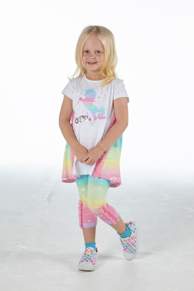PRE ORDER SS21 Girls A*Dee Rainbows and Unicorns Collection Natalia Legging