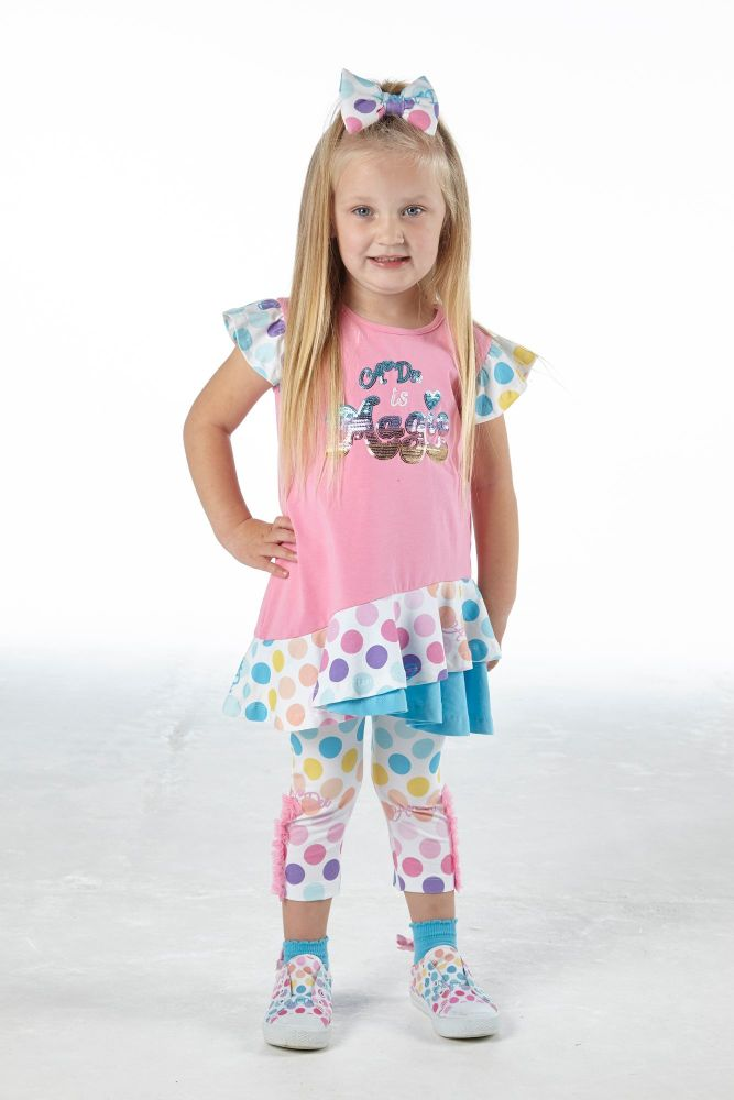 PRE ORDER SS21 Girls A*Dee Rainbows and Unicorns Collection Nellie Leggings