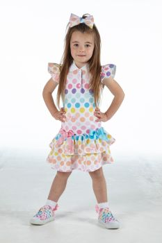 Girls A*Dee Rainbows and Unicorns Collection Nerys Dress S213709