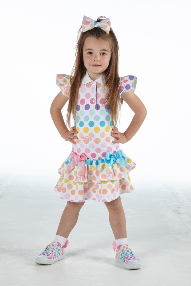 PRE ORDER SS21 Girls A*Dee Rainbows and Unicorns Collection Nerys Dress S21