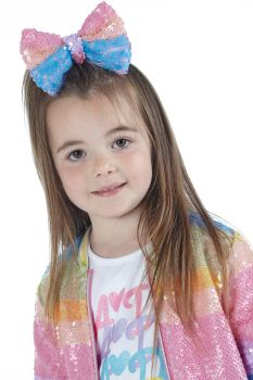 Girls A*Dee Rainbows and Unicorns Collection Northie Hairbow S213912