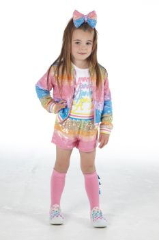 Girls A*Dee Rainbows and Unicorns Collection Norma Top and Shorts Set S213512