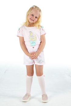 Girls A*Dee Scream For Ice Cream Collection Olga Top and Orella Shorts S214406/214606