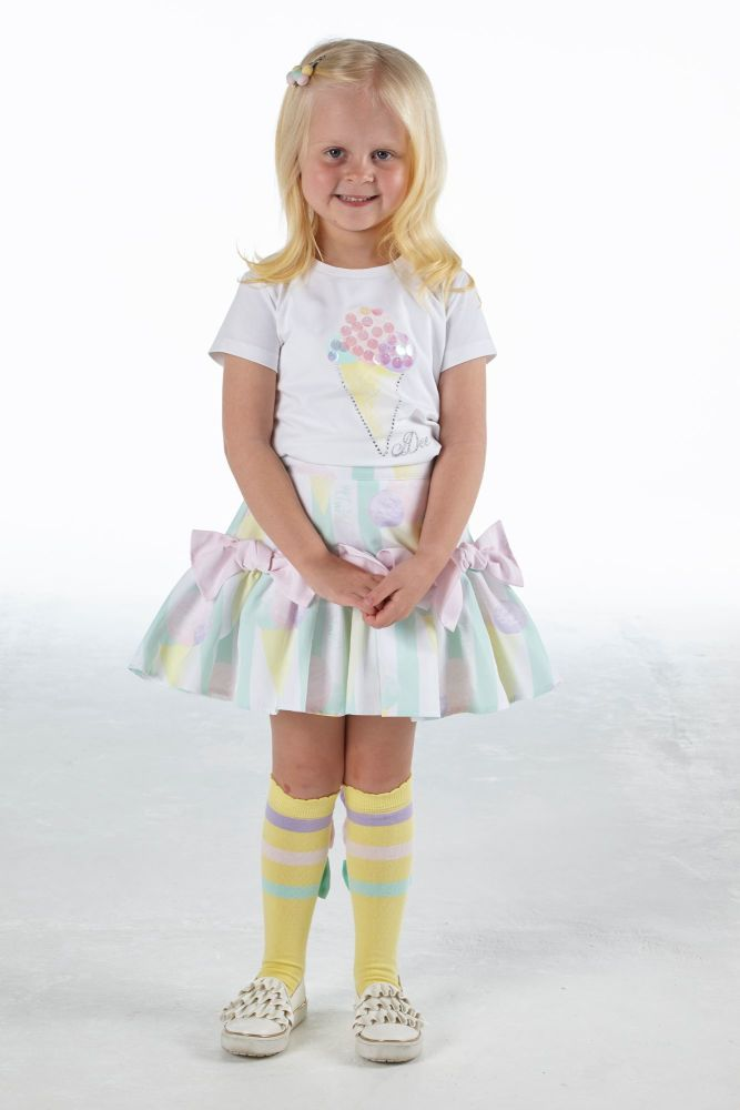 PRE ORDER SS21 Girls A*Dee Scream For Ice Cream Collection Olive Top and On