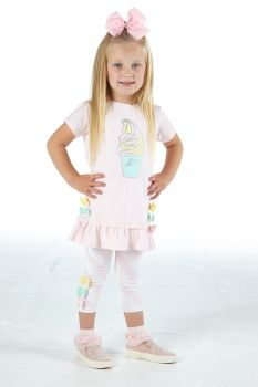 Girls A*Dee Scream For Ice Cream Collection Olivia Leggings Set S214517