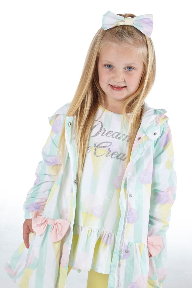PRE ORDER SS21 Girls A*Dee Scream For Ice Cream Collection Olly Coat S21420