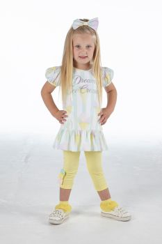 Girls A*Dee Scream For Ice Cream Collection Onika Leggings Set S214518