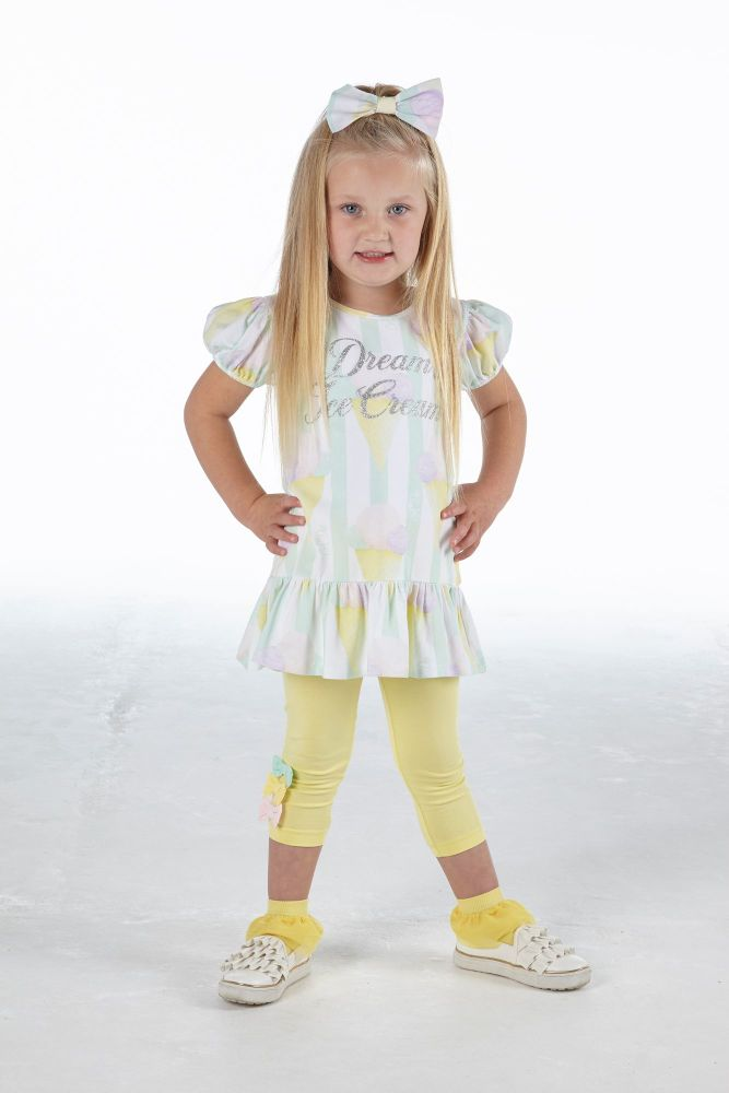 PRE ORDER SS21 Girls A*Dee Scream For Ice Cream Collection Onika Leggings S