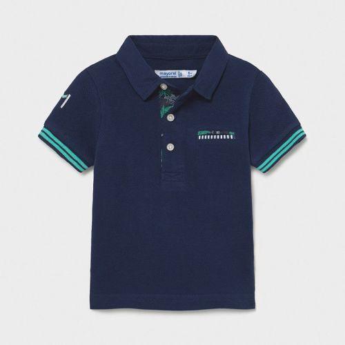 Boys Mayoral Polo Shirt 1108 Blue