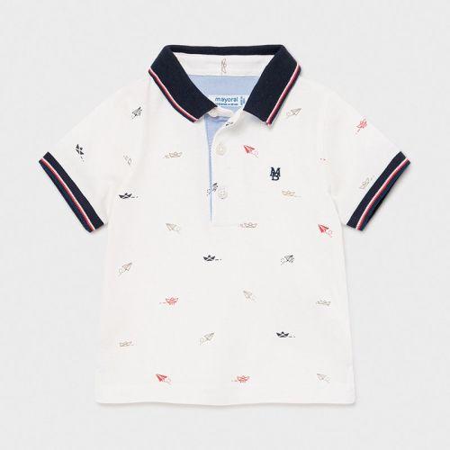 Boys Mayoral Polo Shirt 1105 Cream
