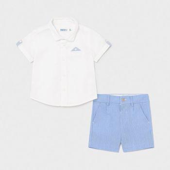 Boys Mayoral Shirt and Shorts Set 1252 Lavender