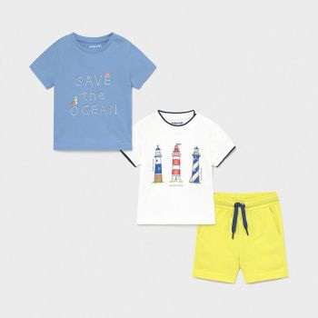 Boys Mayoral 3 Piece Shorts Set 1670 Lavender