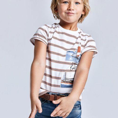 Boys Mayoral T Shirt 3029 Clay