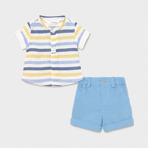 Boys Mayoral Top and Shorts Set 1217 Blue