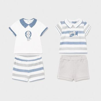 Boys Mayoral Top and Shorts Double Pack 1642 Lead 27