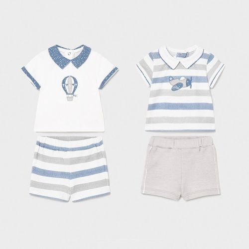 Boys Mayoral Top and Shorts Double Pack 1642 Lead