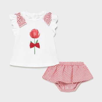 Girls Mayoral Top and Skirt Set 1839 Red 64