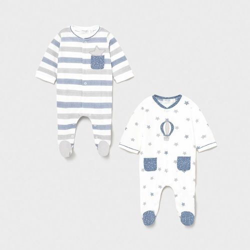 Boys Mayoral Babygrows 2 Pack 1625