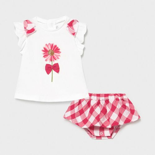 Girls Mayoral Top and Skirt Set 1839 Pink 65