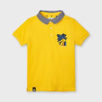 Boys Mayoral Polo Shirt 3102 Yellow