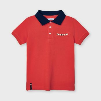 Boys Mayoral Polo Shirt 3104 Papaya 52