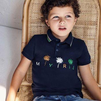 Boys Mayoral Polo Shirt 3105 Navy