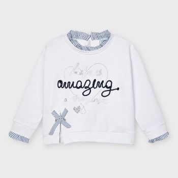 Girls Mayoral Pullover 3475 White