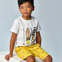 Boys Mayoral T Shirt and Shorts Set 3638 Yellow